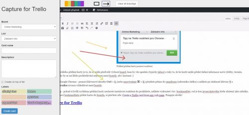 Capture for Trello v praxi