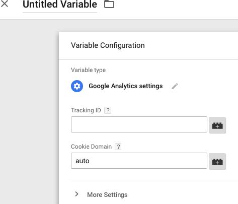 Nastavení proměnné Google Analytics