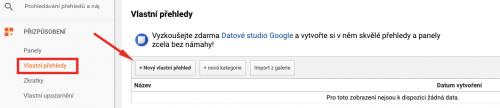 Vytvoření vlastního přehledu v Google Analytics