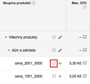 Výpis produktů v produktové skupině
