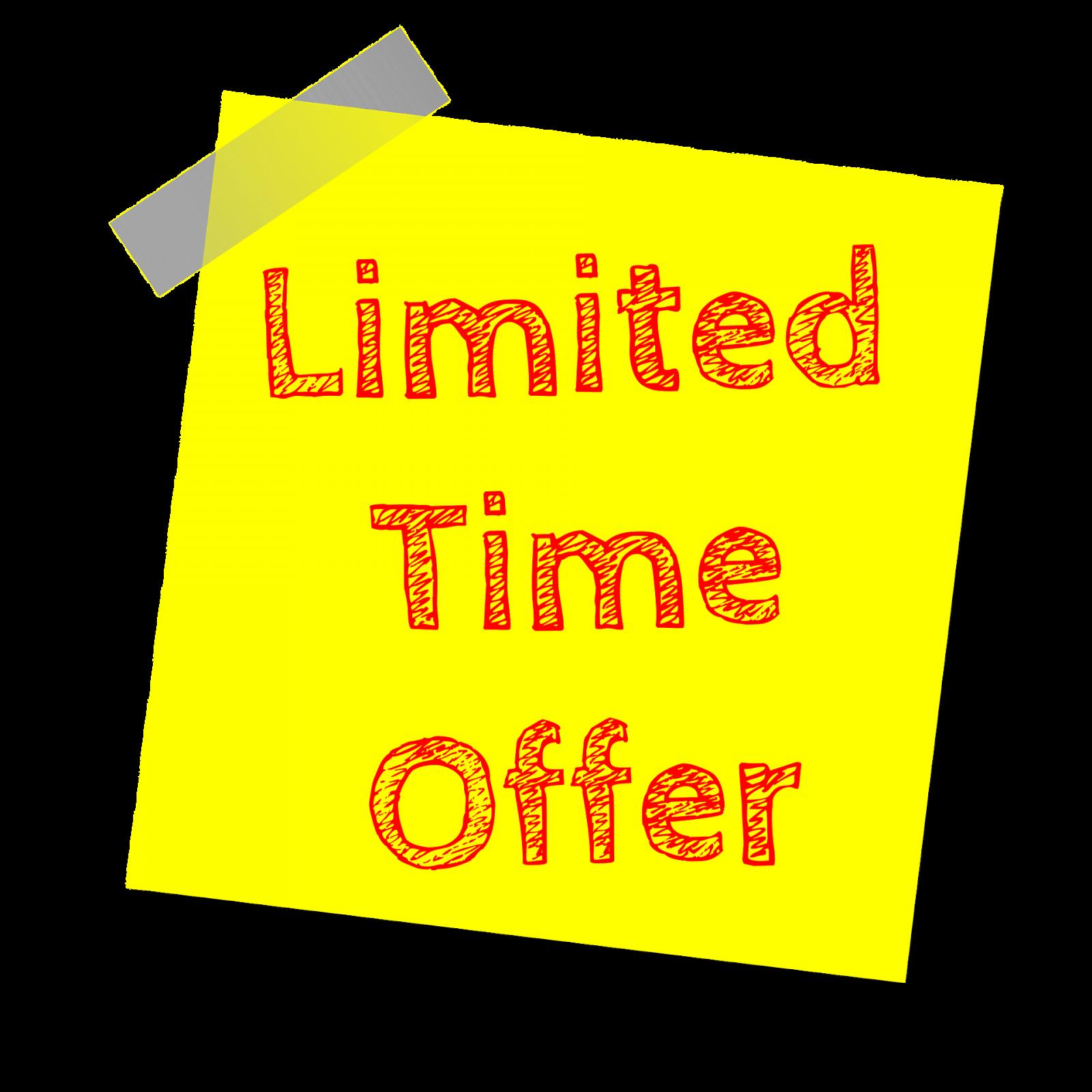 Nabídka - Limited Time Offer