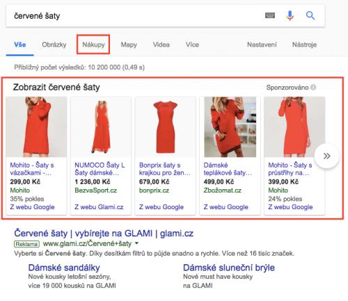 Jak vypadají Google PLA?